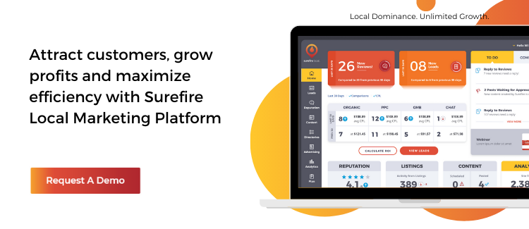 Request a Demo of the Surefire Local Marketing Platform